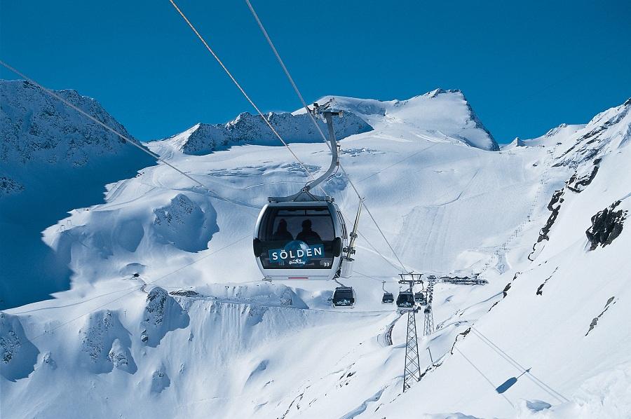 De skilift in Solden